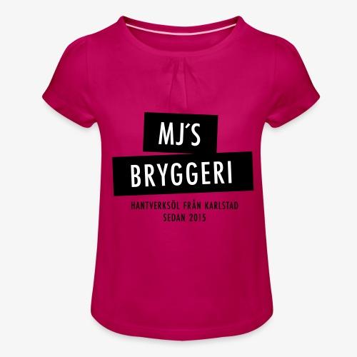MJs logga - T-shirt med rynkning flicka