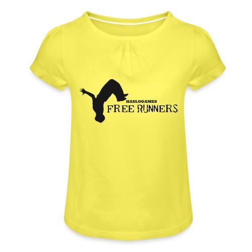 FREERUN - Meisjes-T-shirt met plooien