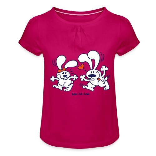 Hot Bunnies - Girl's T-Shirt with Ruffles