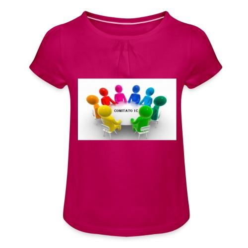 comitato 1c - Maglietta da ragazza con arricciatura