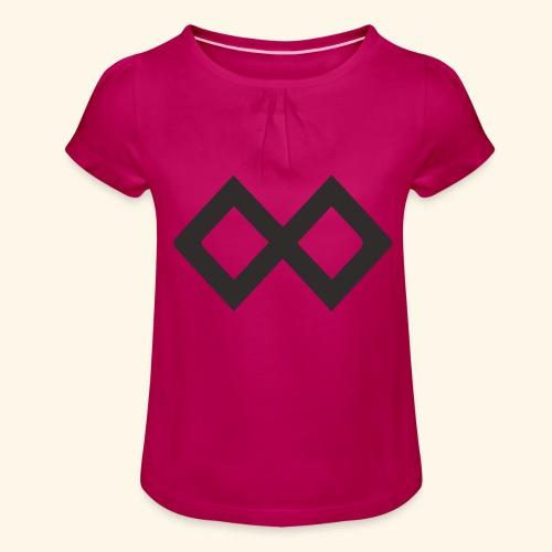 TenX Logo - Mädchen-T-Shirt mit Raffungen