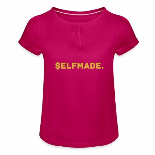 Millionaire. X $ elfmade. - Girl's T-Shirt with Ruffles