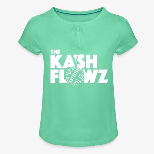 The Kash Flowz Official Bomb White - T-shirt à fronces au col Fille