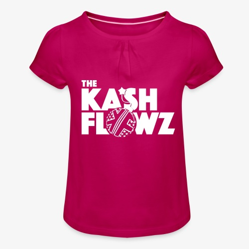 The Kash Flowz Official Bomb White - T-shirt à fronces au col Fille