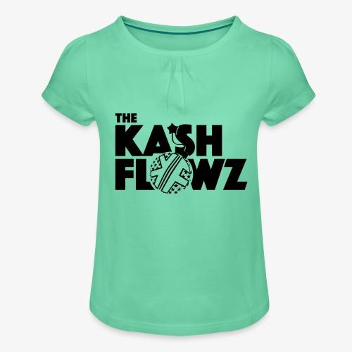 The Kash Flowz Official Bomb Black - T-shirt à fronces au col Fille