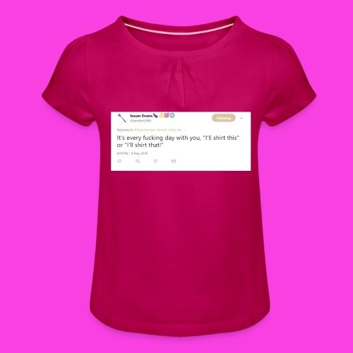 Ieuan Tweet - Girl's T-Shirt with Ruffles