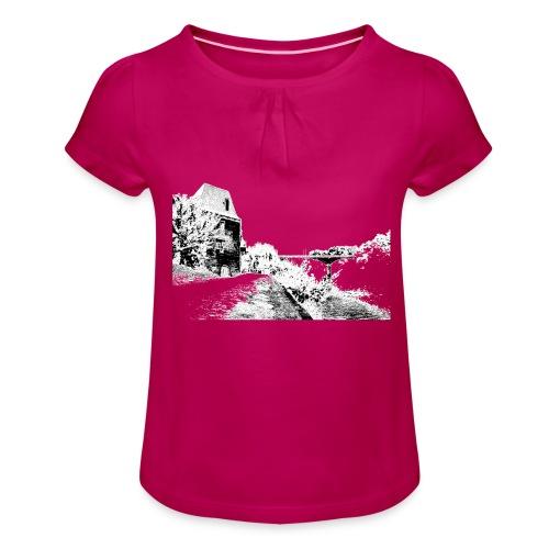 J'aime Mouleydier - Pont F - T-shirt à fronces au col Fille