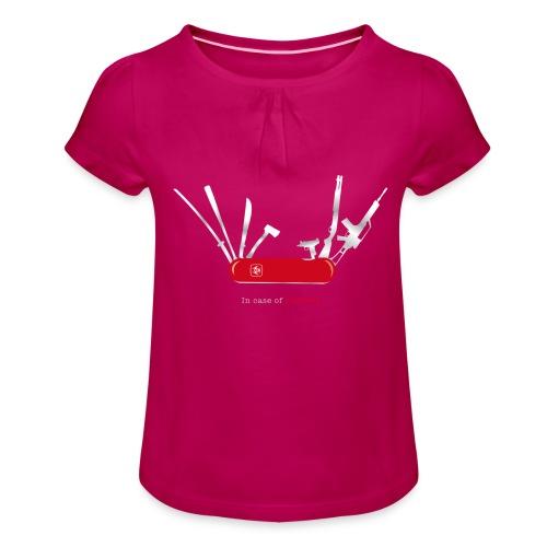 In case of zombies - Mädchen-T-Shirt mit Raffungen