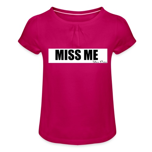 MISS ME - Girl's T-Shirt with Ruffles