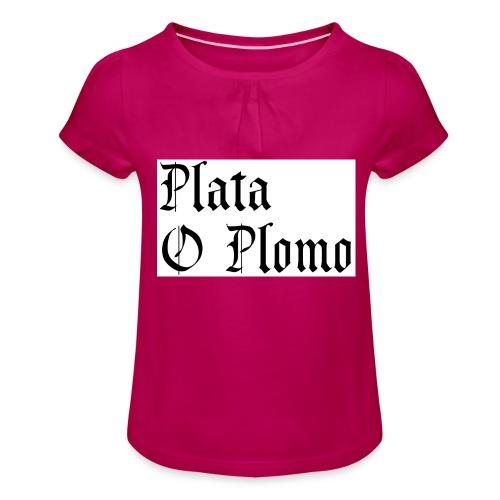 Plata o plomo - T-shirt à fronces au col Fille