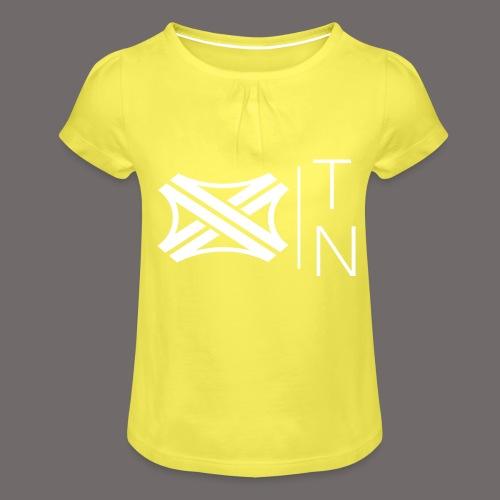 Tregion logo Small - Girl's T-Shirt with Ruffles