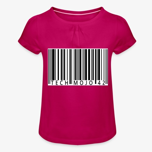 TM graphic Barcode Answer to the universe - Girl's T-Shirt with Ruffles