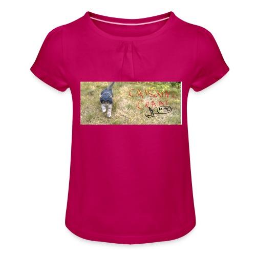 catssin's craat - Koszulka dziewczęca z marszczeniami