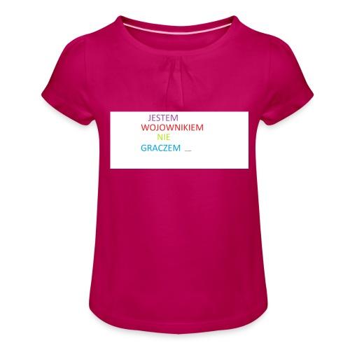 kim jesteś - Koszulka dziewczęca z marszczeniami