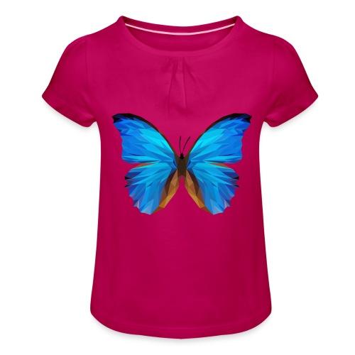 PAPILLON - MINIMALISTE - T-shirt à fronces au col Fille