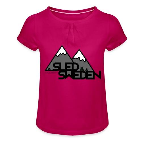 SledSweden Logo - T-shirt med rynkning flicka