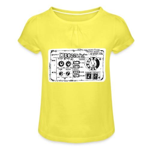 Drum Machine's R Ace! - Girl's T-Shirt with Ruffles