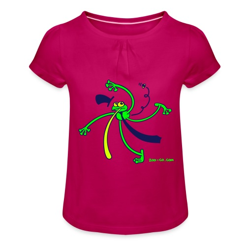 Dancing Frog - Girl's T-Shirt with Ruffles