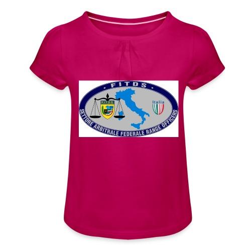 Logo SAFRO - Maglietta da ragazza con arricciatura
