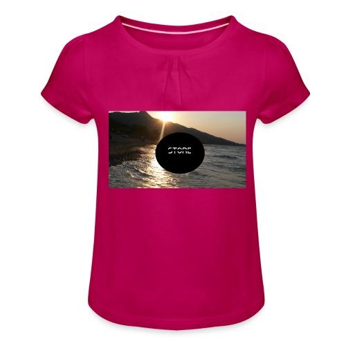 Mousepad - Mädchen-T-Shirt mit Raffungen