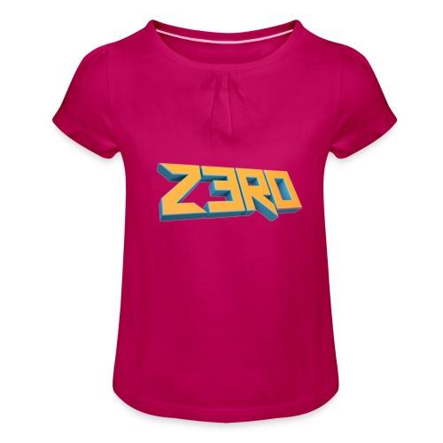 The Z3R0 Shirt - Girl's T-Shirt with Ruffles