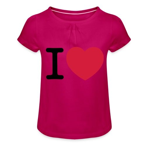 tekening - Meisjes-T-shirt met plooien