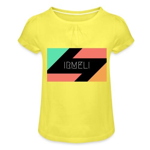 1 - Tyttöjen t-paita, jossa rypytyksiä