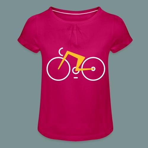Bikes against cancer - Pige T-shirt med flæser