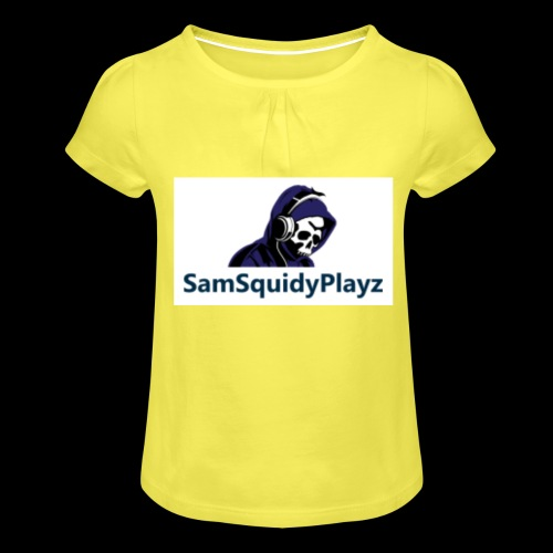 SamSquidyplayz skeleton - Girl's T-Shirt with Ruffles