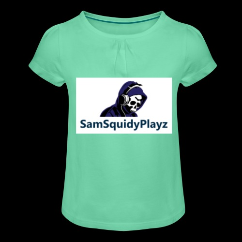 SamSquidyplayz skeleton - Girl's T-Shirt with Ruffles