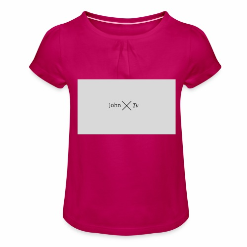 john tv - Girl's T-Shirt with Ruffles