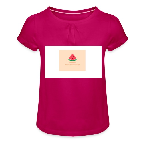 LOGO TPM - Meisjes-T-shirt met plooien
