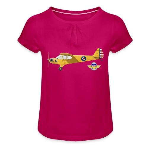 Piper Cub Spirit of Lewis - T-shirt à fronces au col Fille