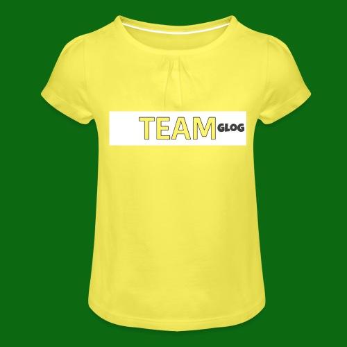 Team Glog - Girl's T-Shirt with Ruffles
