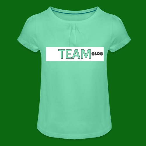 Team Glog - Girl's T-Shirt with Ruffles