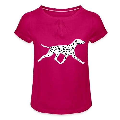 Dalmatiner - Mädchen-T-Shirt mit Raffungen