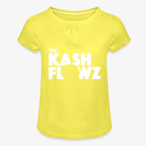 The Kash Flowz Official Logo White - T-shirt à fronces au col Fille