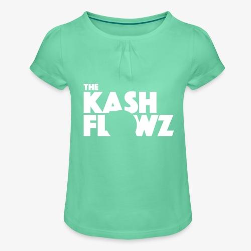 The Kash Flowz Official Logo White - T-shirt à fronces au col Fille
