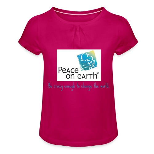 becrazy1 - Mädchen-T-Shirt mit Raffungen