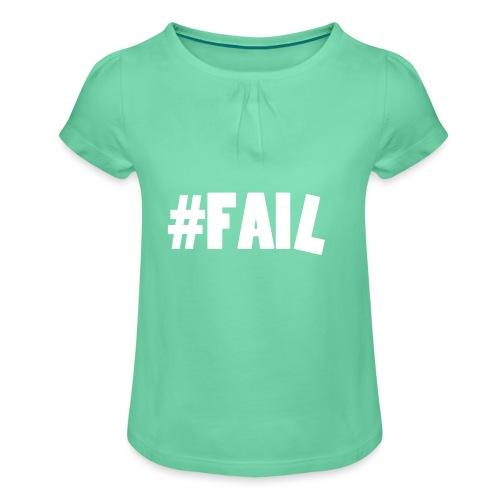 FAIL / White - T-shirt à fronces au col Fille