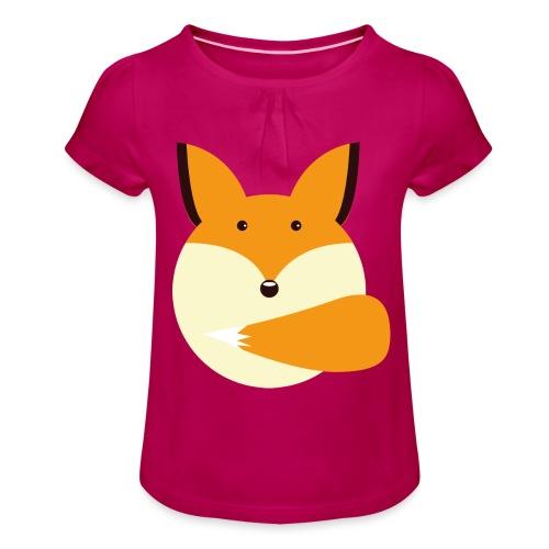 Fuchs Norbi - Mädchen-T-Shirt mit Raffungen