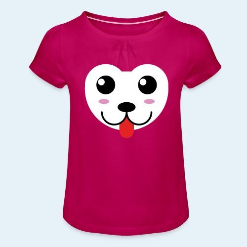 Husky perro bebé (baby husky dog) - Camiseta para niña con drapeado