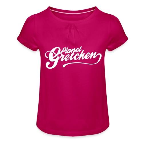 Planet Gretchen - T-shirt med rynkning flicka