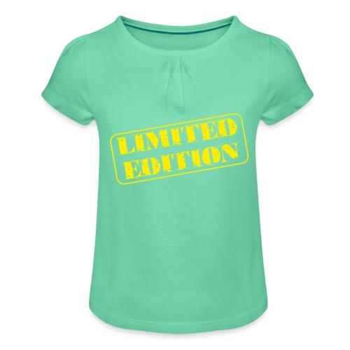 Limited Edition - Mädchen-T-Shirt mit Raffungen