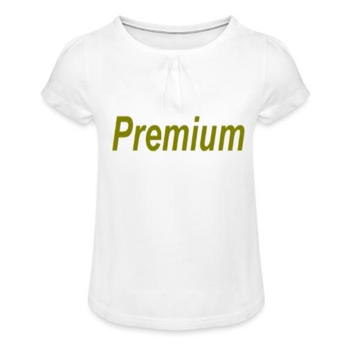 Premium - Girl's T-Shirt with Ruffles