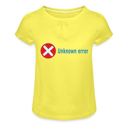 Unkown Error - Tyttöjen t-paita, jossa rypytyksiä