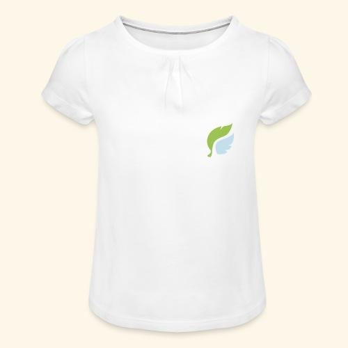 Akan White - Tyttöjen t-paita, jossa rypytyksiä