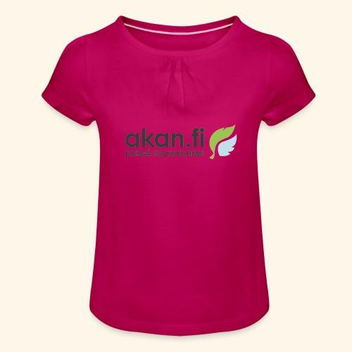 Akan Black - T-shirt med rynkning flicka