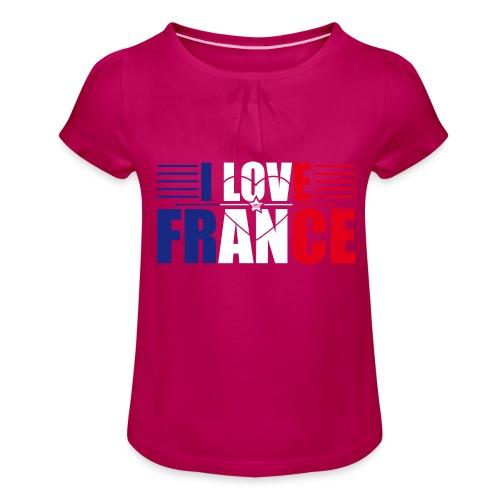 love france - T-shirt à fronces au col Fille