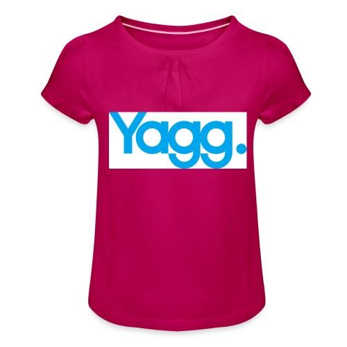 yagglogorvb - T-shirt à fronces au col Fille